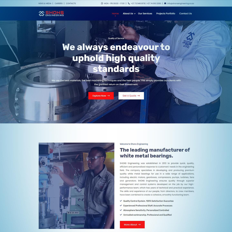 Shons Engineering Website