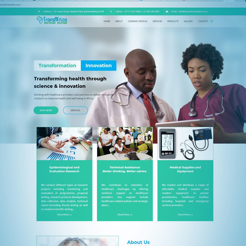 TransAfrica Healthcare Website